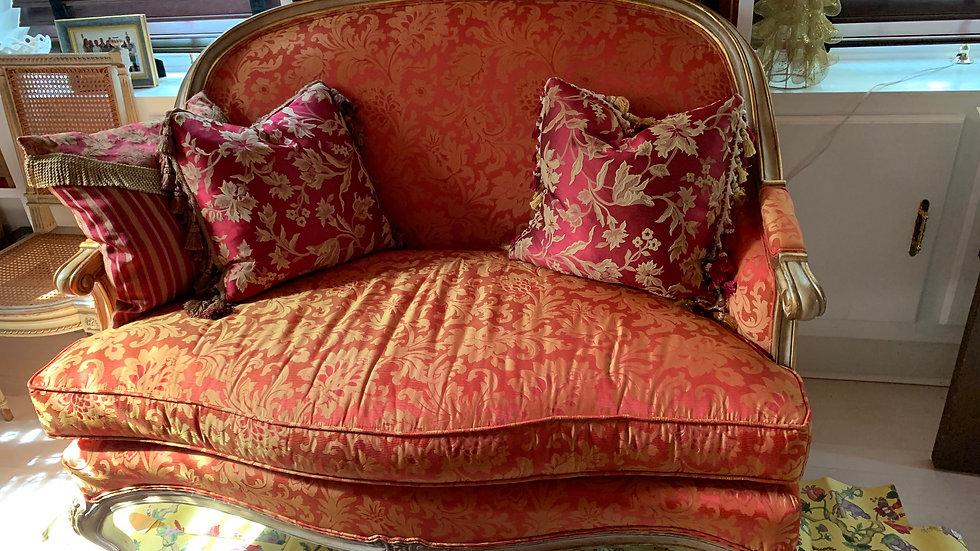 Highland House Victorian Style Custom Upholstered Loveseat