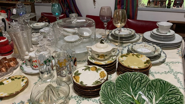 Lots of china and dishes