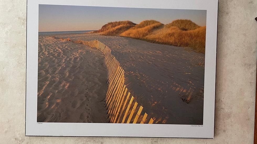 Long Island Beach Photo mounted on Board