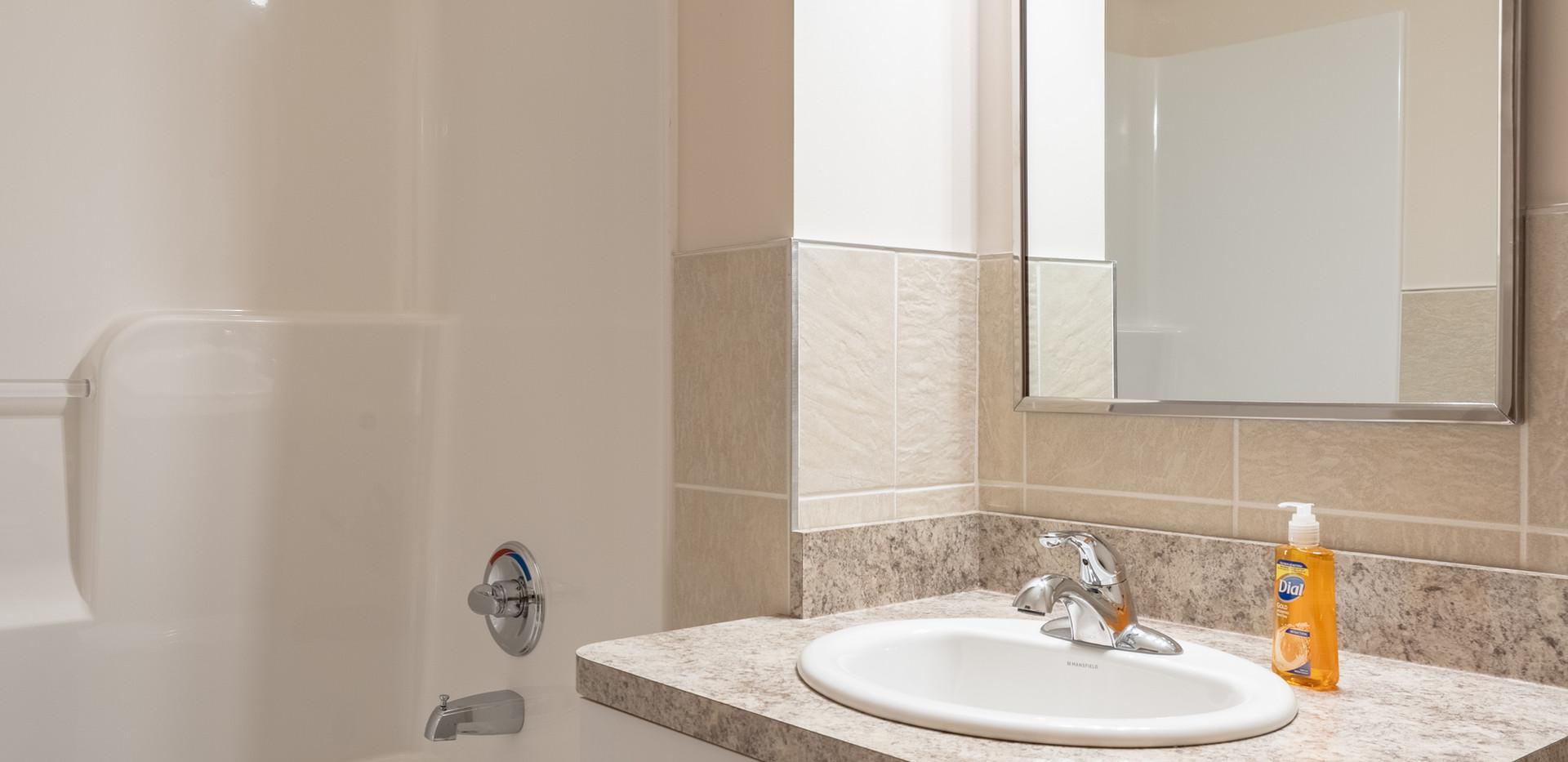 Transitional Apartment - Bathroom