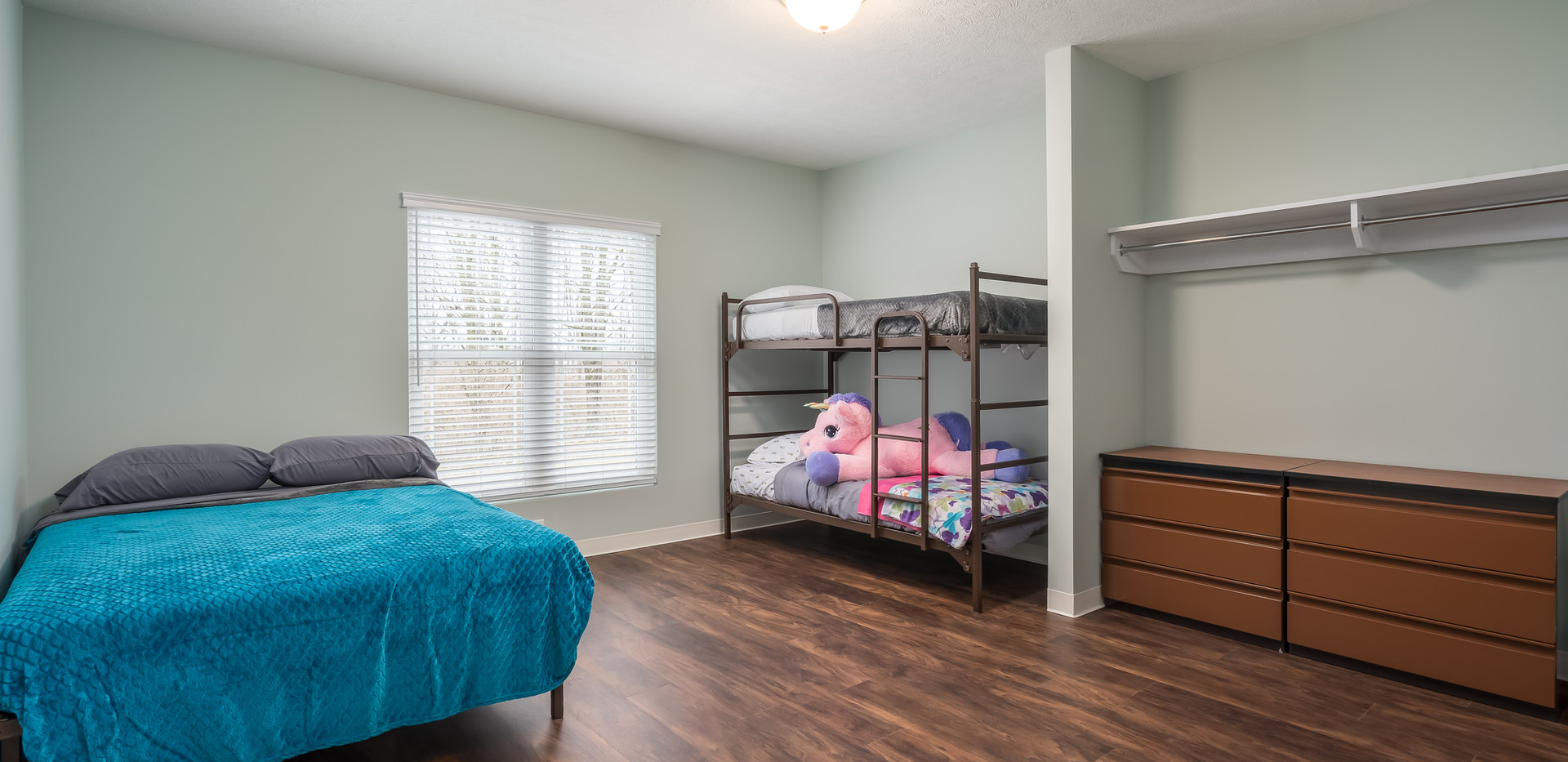 Transitional Apartment - Bedroom