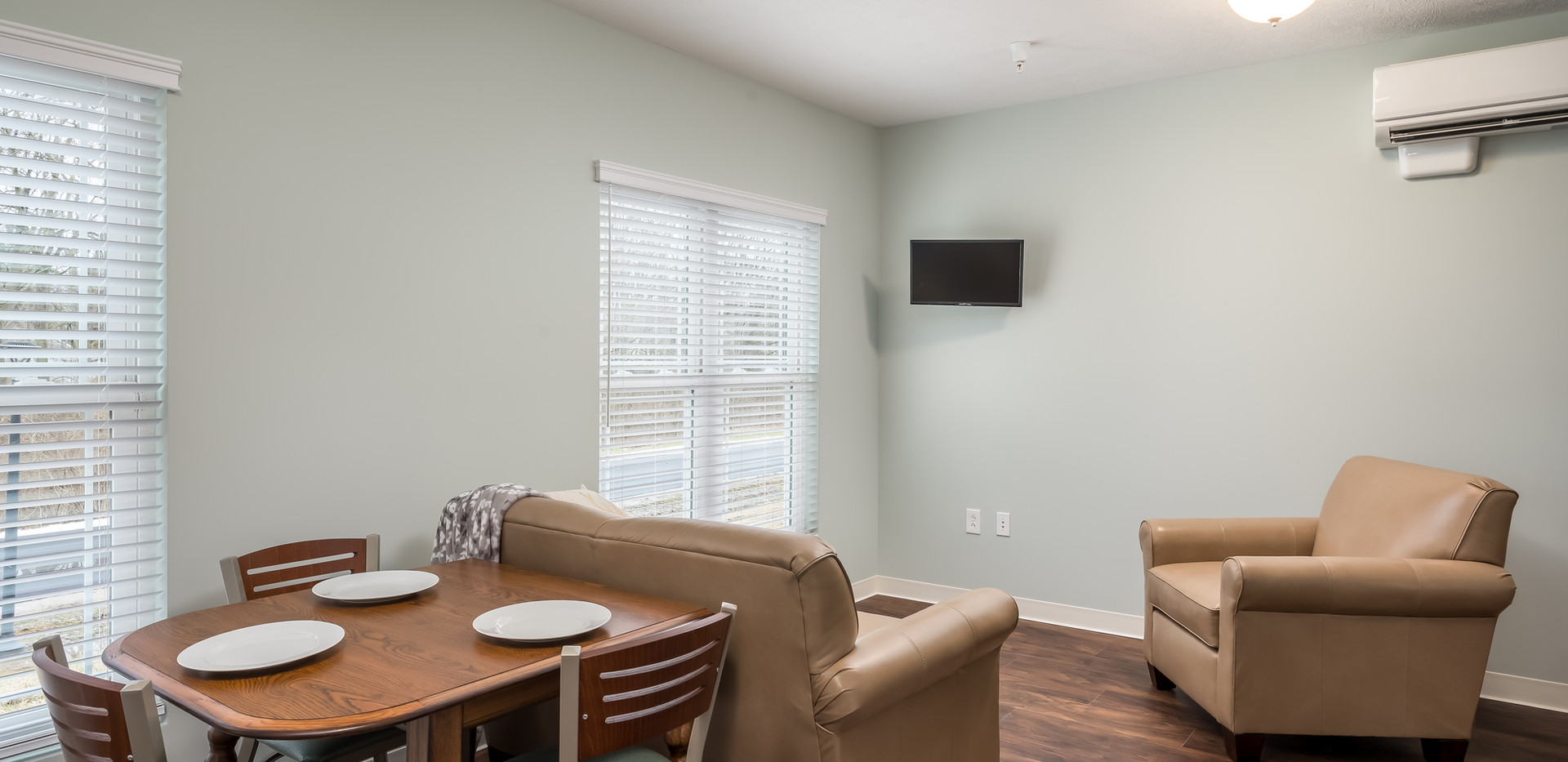 Transitional Apartment - Dining/Living Room
