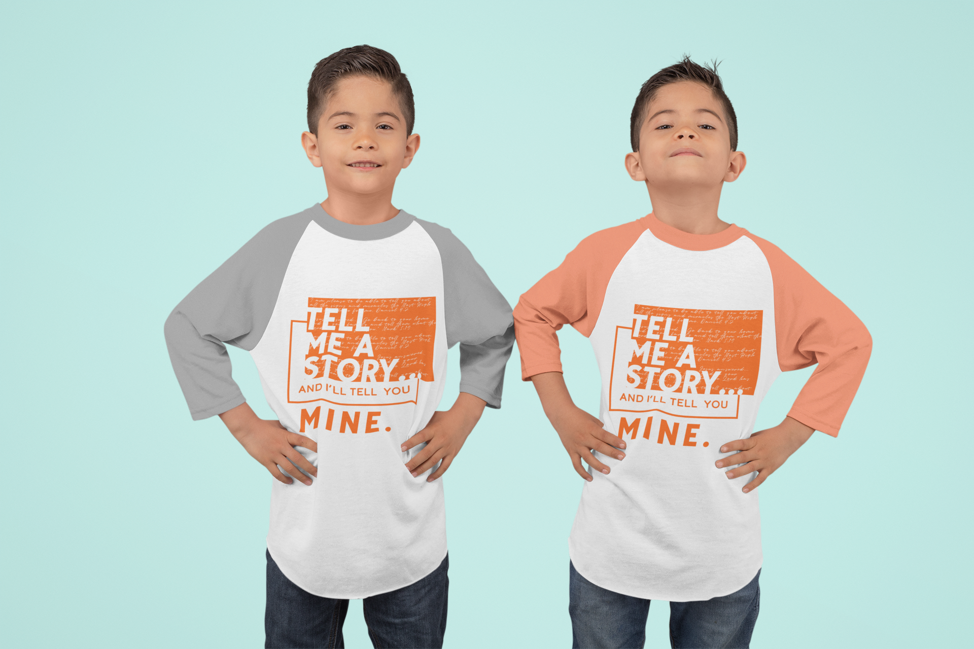 mockup-of-twin-boys-wearing-raglan-t-shi
