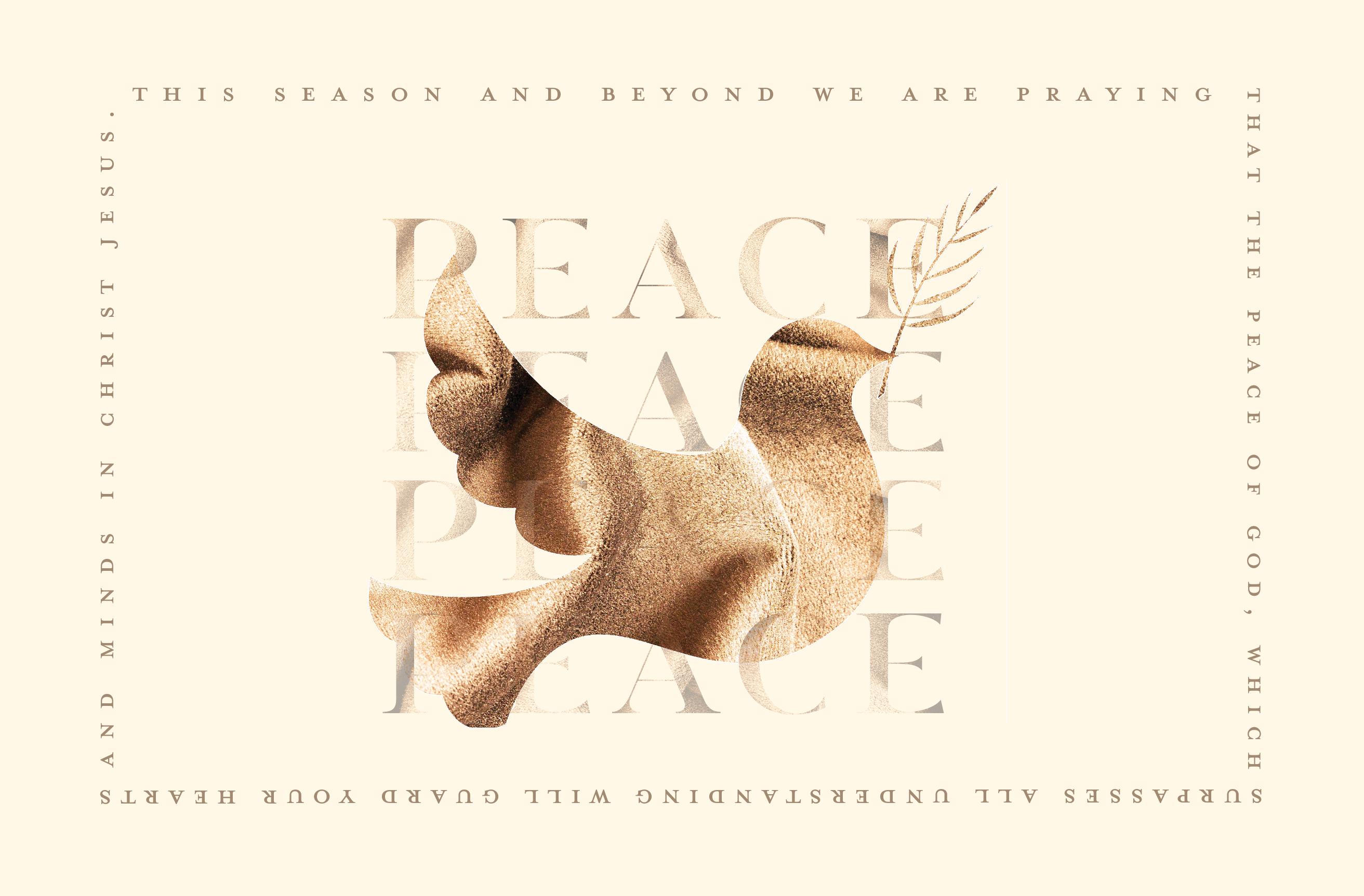 Christmas PEACE Postcard