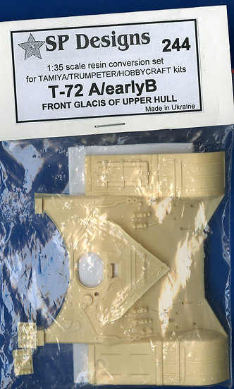 244 T-72 A / Early B front Glacis for Tamiya