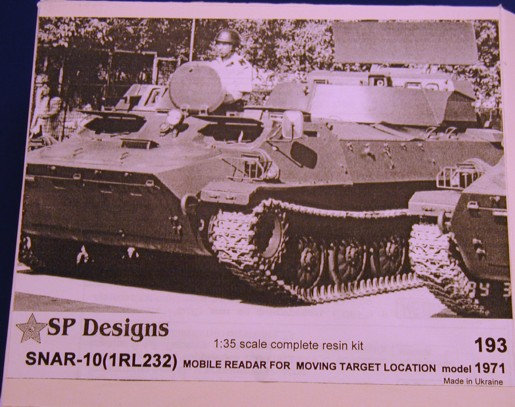 "193 SNAR-10 m1971 radar ""Jaguar"" - MT-LB kit"
