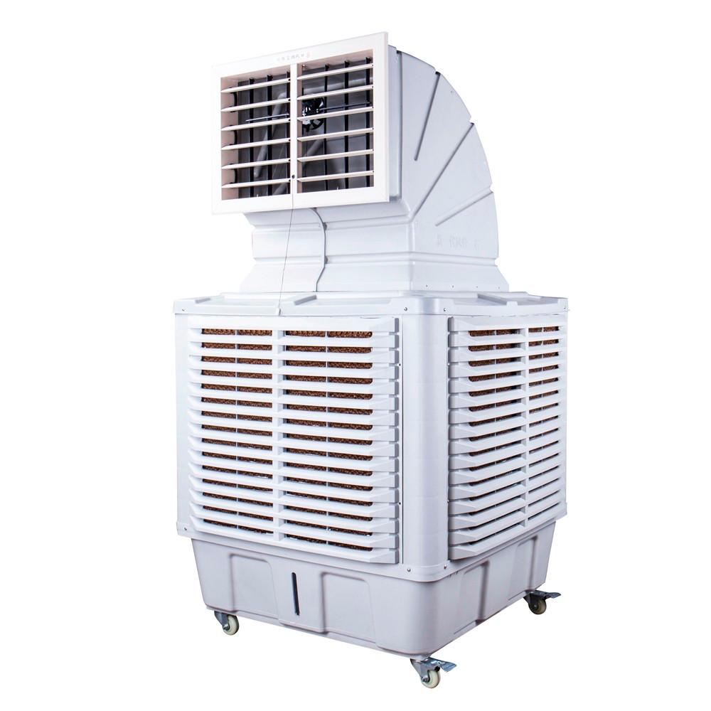 Elemento que auxilia na retirada de calor de um local, como refrigeradores evaporativos.