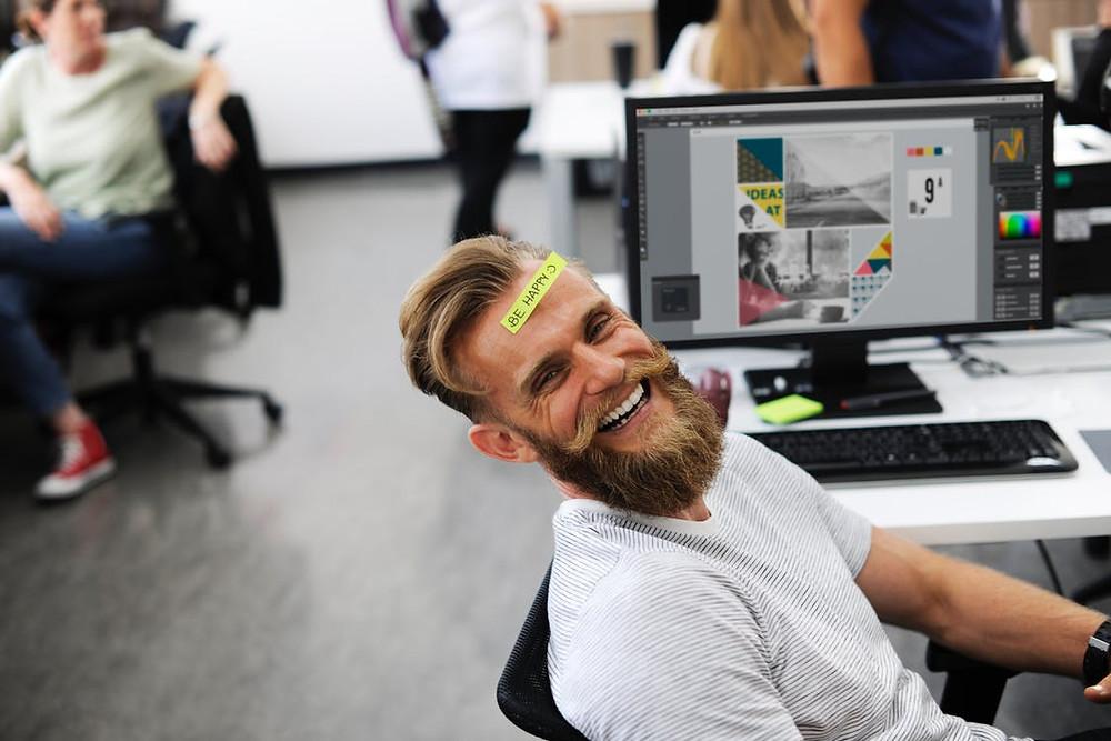 geluk op de werkvloer