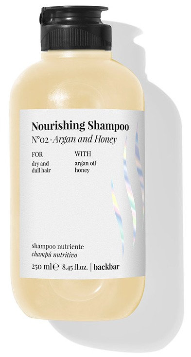BACK.BAR Nourishing Shampoo No.2 - toitev śampoon kuivadele juustele argaania + mesi 250ml
