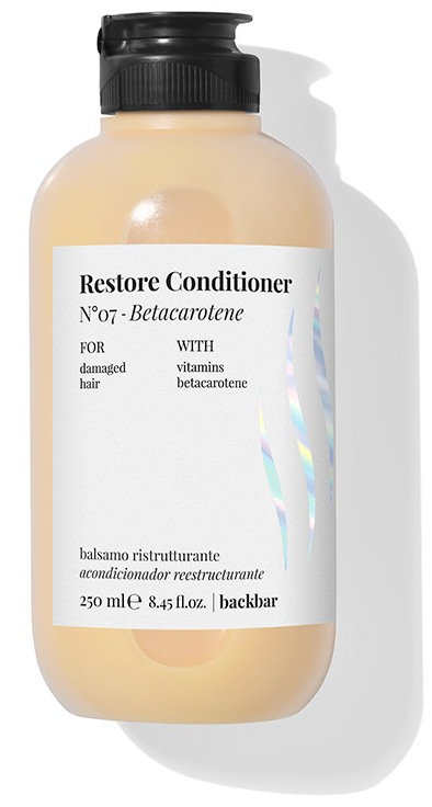 BACK.BAR Restore Conditioner No.7 - taastav palsam kahjustatud juustele betakaroteeniga 250ml