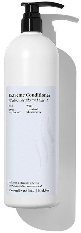 BACK.BAR Extreme Conditioner No.6 - palsam kuivadele juustele avokaado + nisu 1000ml