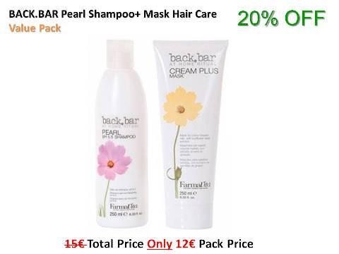 BACK.BAR Pearl pH5.5 Shampoo + Cream Plus Mask Hair Care Value Pack