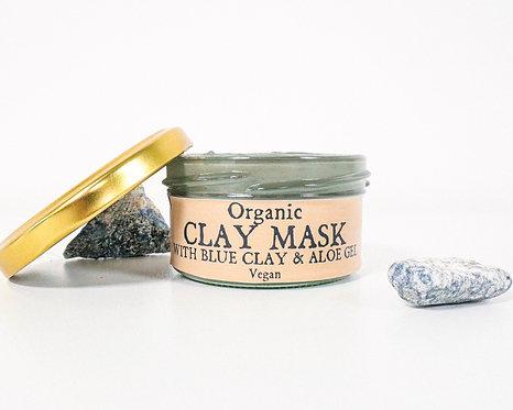 Organic Blue Clay Face Mask 70ml