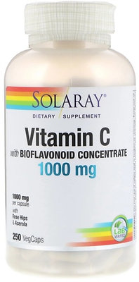 Vitamin C - strong antioxidant, 1000mg, 250 VegCaps