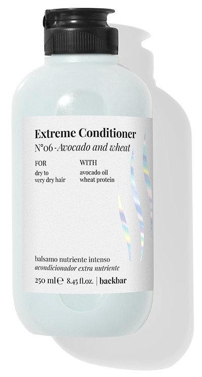 BACK.BAR Extreme Conditioner No.6 - palsam kuivadele juustele avokaado + nisu 250ml