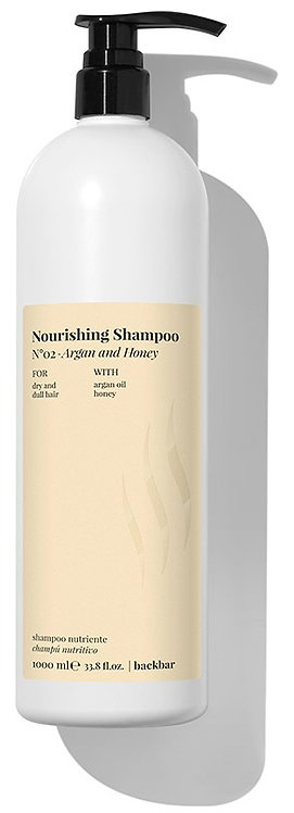 BACK.BAR Nourishing Shampoo No.2 - toitev śampoon kuivadele juustele argaania + mesi 1000ml
