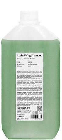 BACK.BAR Revitalizing Shampoo No.4 - elustav śampoon igapäevaseks kasutamiseks looduslike ürtidega 5000ml