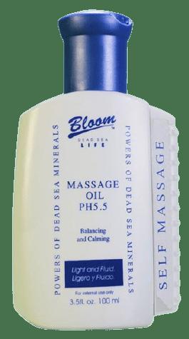 Bloom Массажное масло pH5.5 для лица и тела с минералами Мёртвого моря (с массажным валиком), 100мл