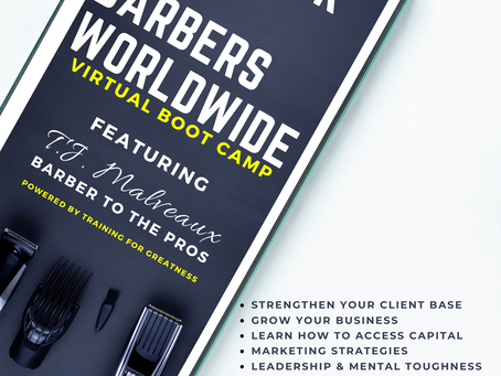Playbook for Barbers Workshops: Teaching Barbers and Barbershop Owners How to Achieve Greatness