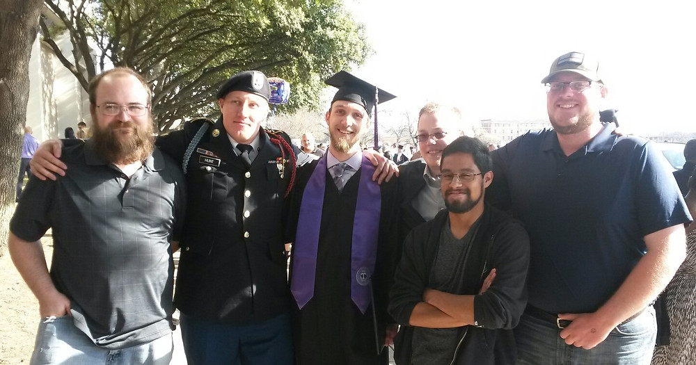 Friends at graduation