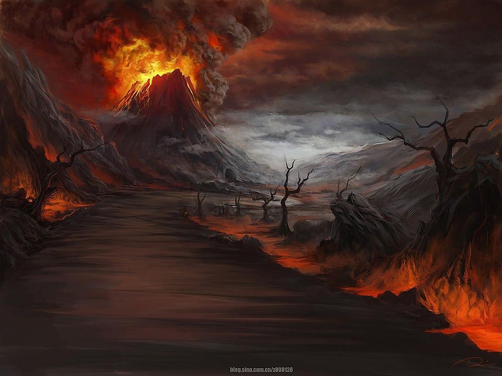 Fantasy Volcano