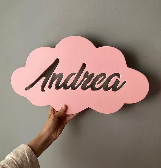 Cartel Infantil Nube personalizado