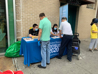 PCR at Sunset Park helping residents to fill out the census forms