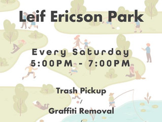 Clean Up project at Leif Ericson Park