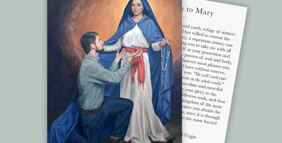Marian Consecration Prayer Cards Set
