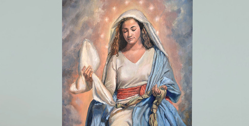 """""""Our Lady Undoer of Knots"""" Greeting Card"""
