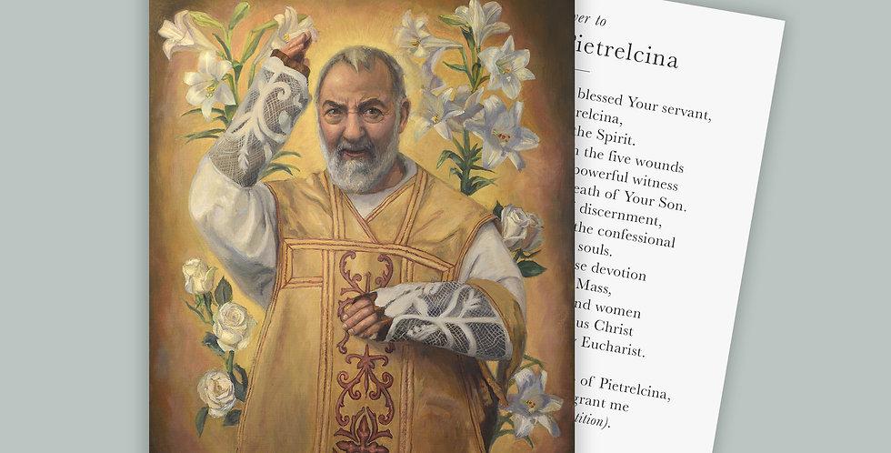 St. Padre Pio Prayer Cards Set