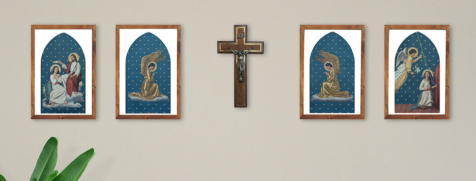 Set of Four 'Altarpiece Paintings'