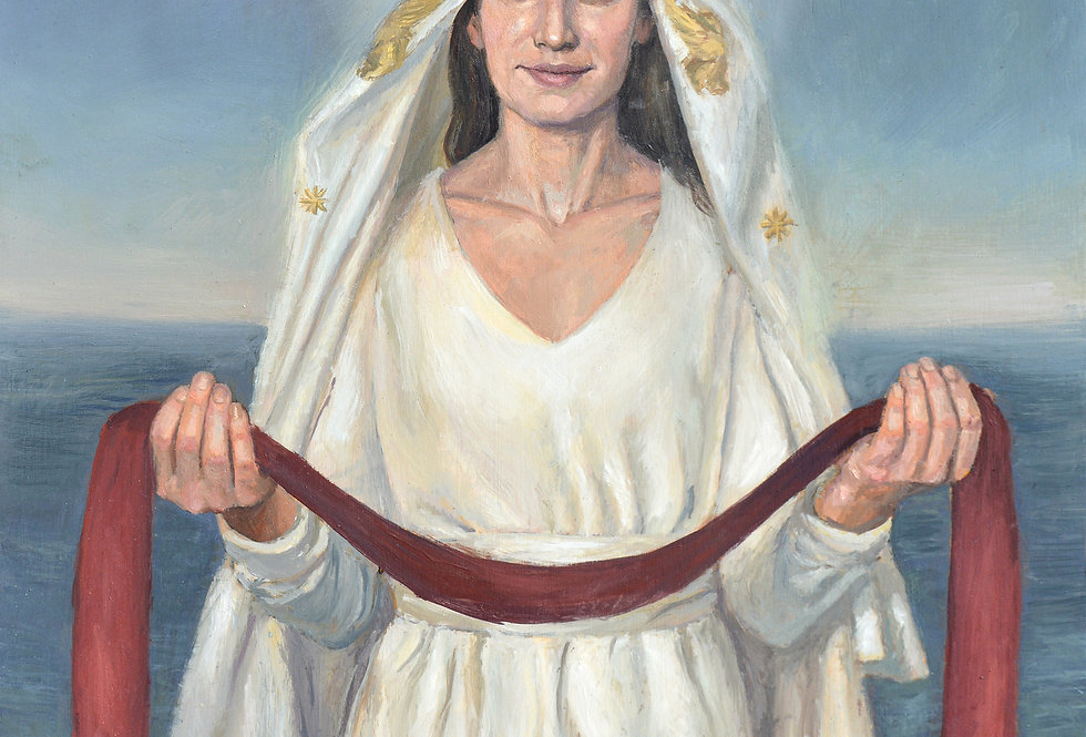 'Mary, Queen of Clergy, Star of the Sea' Print