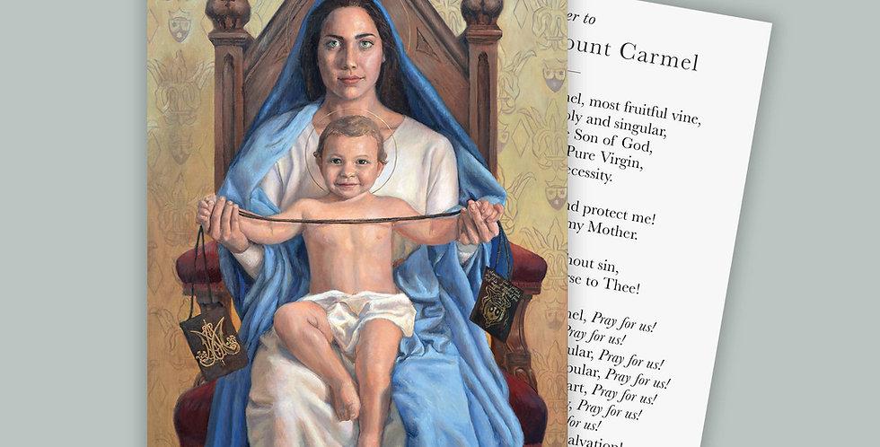Our Lady of Mount Carmel Prayer Cards Set