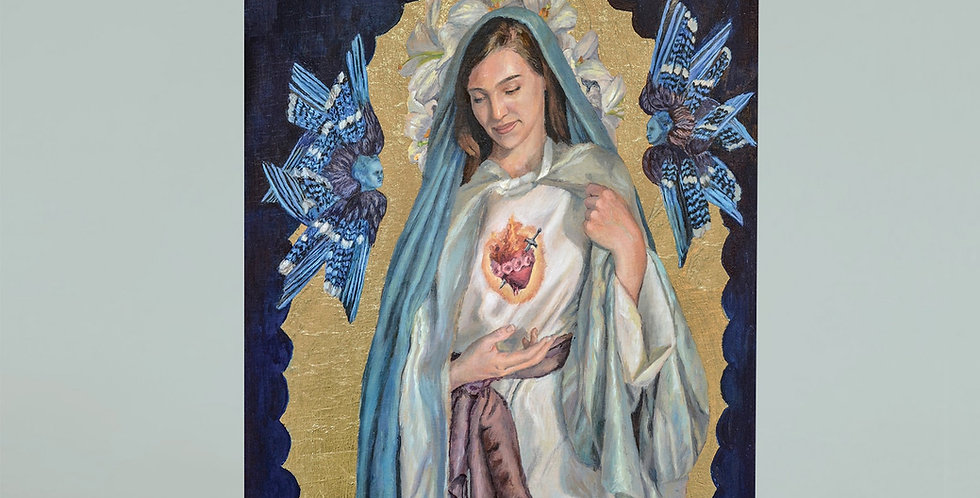 """""""Immaculate Heart"""" Greeting Card"""