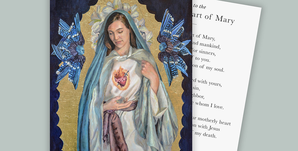 Immaculate Heart Prayer Card