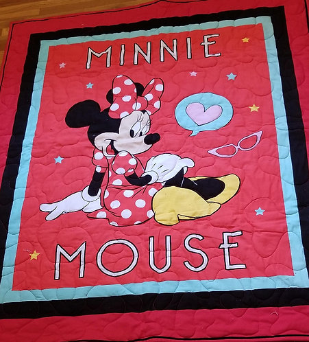 Red Minnie Mouse Quilt