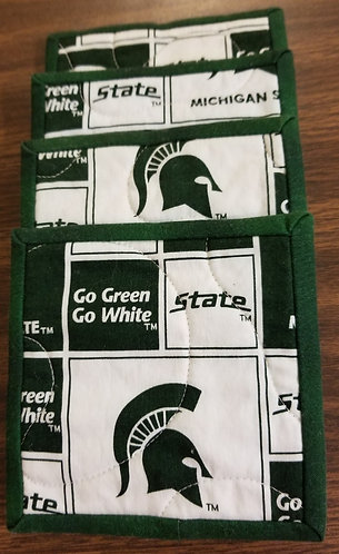 Michigan State University Spartans Coasters