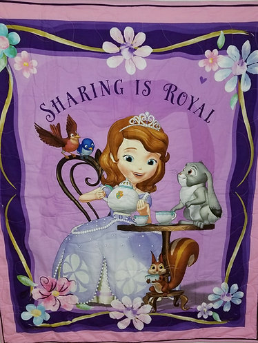 """Sofia the First """"Sharing is Royal"""" Quilt"""