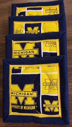 University of Michigan Wolverine Coasters