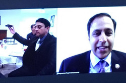 Video Call with Congressman