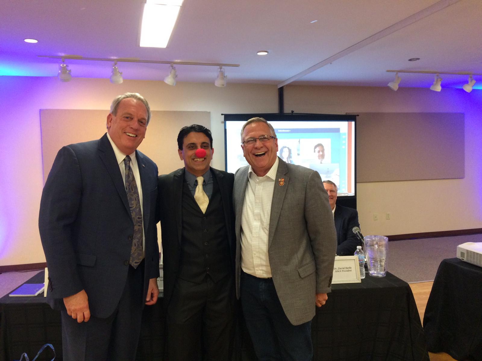 Senator Fowler, CEO Raj, Congressman Bos