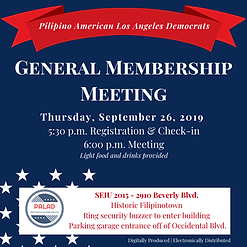 September 26, 2019 PALAD Membership Meet