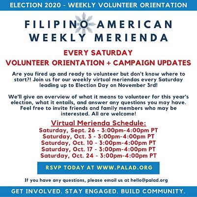 September 19-20, 2020 Filipino American