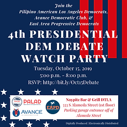 Oct. 15 Watch Party - PALAD x Avance x E