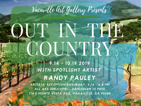 Out in the Country featuring Spotlight Artist Randy Pauley opens Saturday, September 14