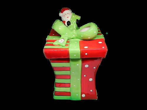 Pote de Cookies - Presente de Natal (Acompanha 20 Cookies)