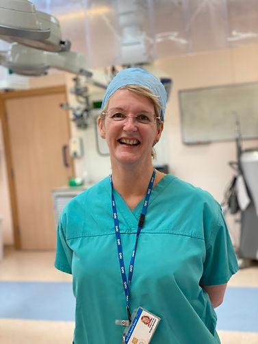 Bridget Hemmant in the Cataract surgery Eye theatre