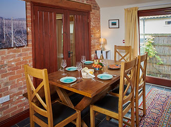 The Vine House has a spacious dining area