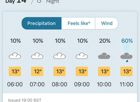 Rain on Saturday delays further final harvest until Sunday 7th October